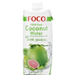 Foco Coconut Water andPink Guava - 500ml (12 units box)