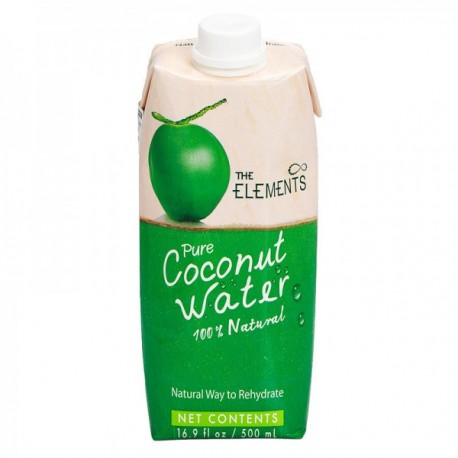 The Elements - Agua de Coco Pura - 330ml (Caja 12ud.)