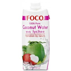 Foco Coconut Water and Lychee - 500ml (12 units box)